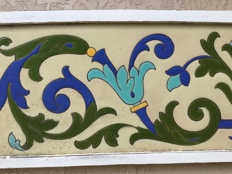 Large Antique Ceramic French Wall Hanging For Sale 1