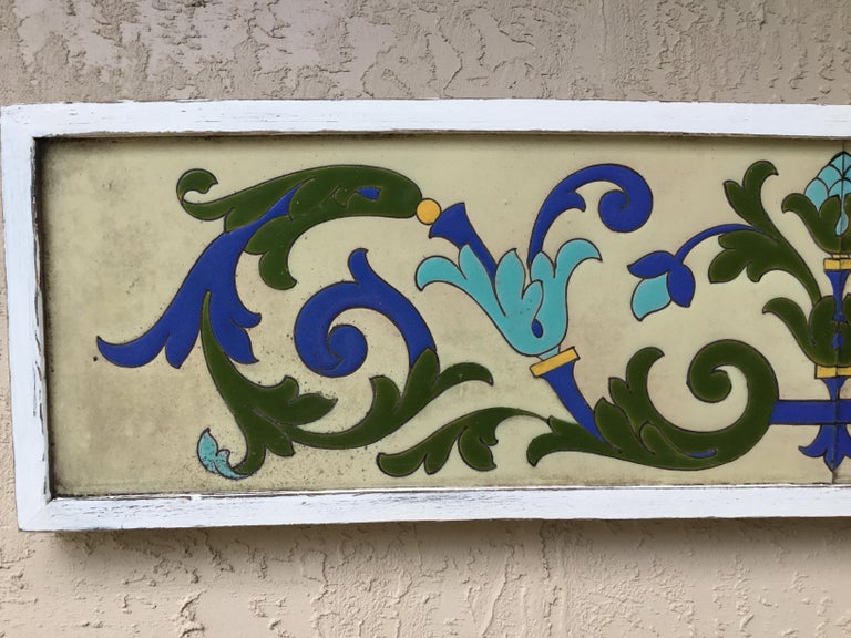 Large Antique Ceramic French Wall Hanging For Sale 4