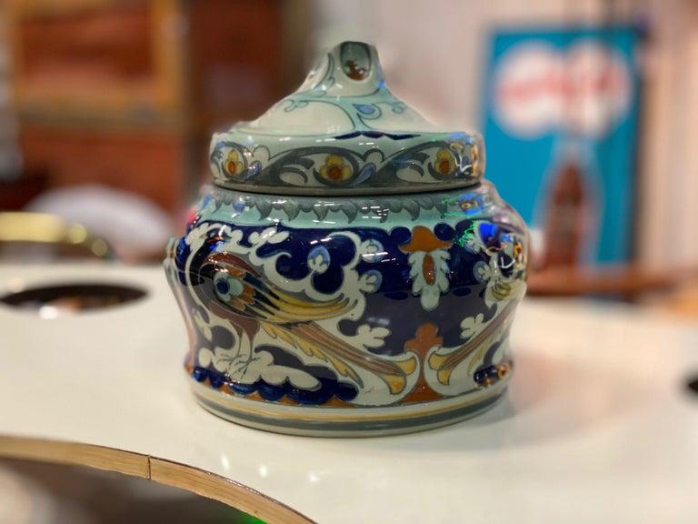 Antique Ceramic Lidded Box by Samuel Schellink for Rozenburg For Sale 3
