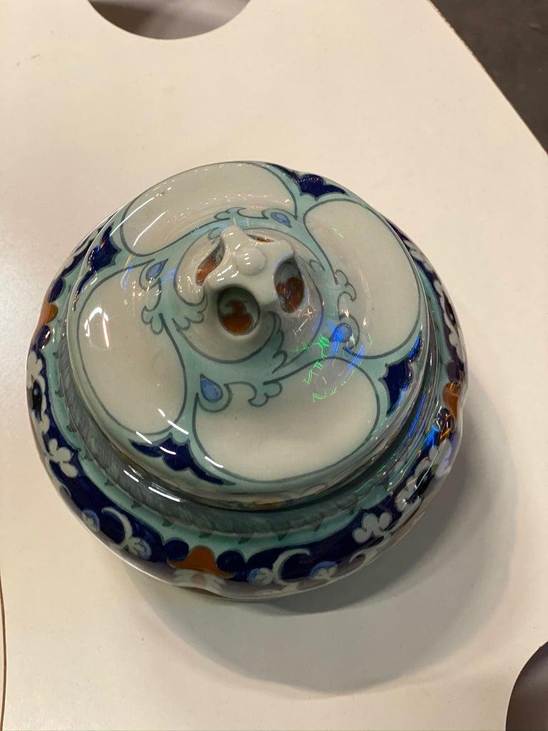 Antique Ceramic Lidded Box by Samuel Schellink for Rozenburg For Sale 4