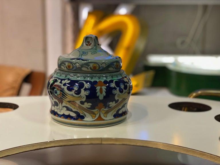 Antique Ceramic Lidded Box by Samuel Schellink for Rozenburg For Sale 5