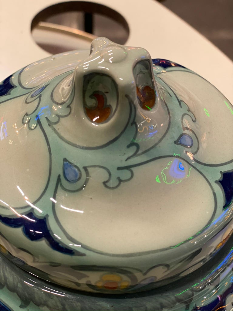 Antique Ceramic Lidded Box by Samuel Schellink for Rozenburg For Sale 7