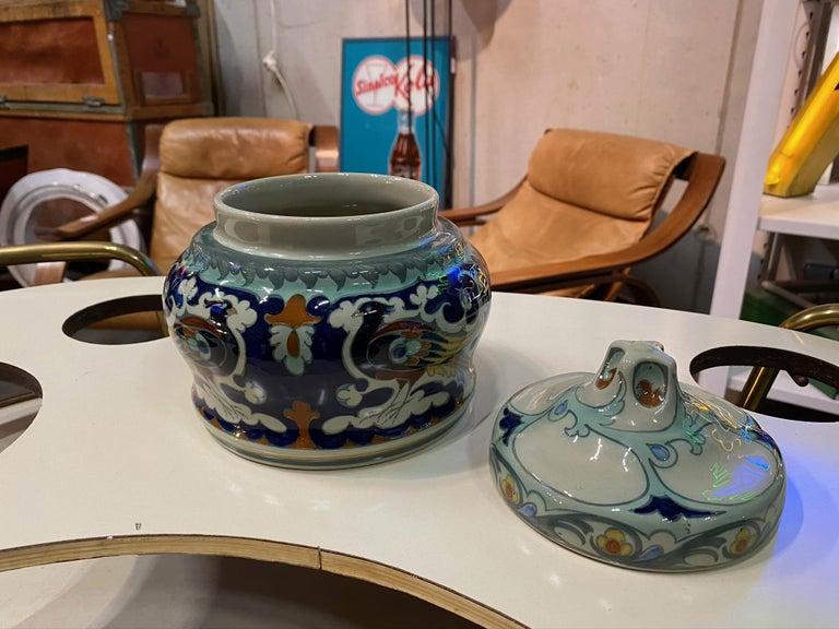 Antique Ceramic Lidded Box by Samuel Schellink for Rozenburg For Sale 10