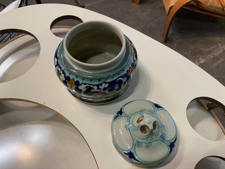 Antique Ceramic Lidded Box by Samuel Schellink for Rozenburg For Sale 11