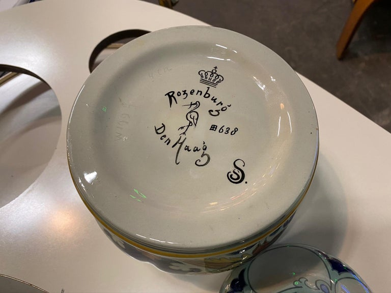 Antique Ceramic Lidded Box by Samuel Schellink for Rozenburg For Sale 13