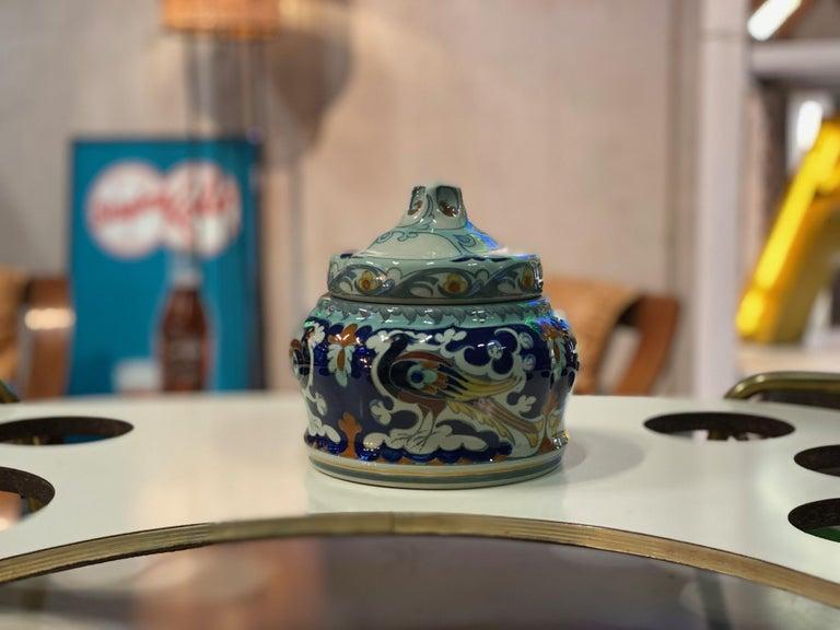 European Antique Ceramic Lidded Box by Samuel Schellink for Rozenburg For Sale