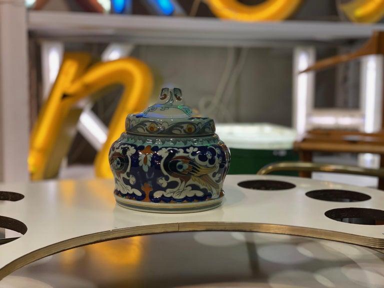 Antique Ceramic Lidded Box by Samuel Schellink for Rozenburg In Excellent Condition For Sale In Hamburg, DE