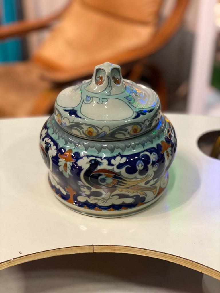 Antique Ceramic Lidded Box by Samuel Schellink for Rozenburg For Sale 1
