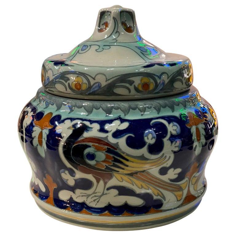 Antique Ceramic Lidded Box by Samuel Schellink for Rozenburg For Sale