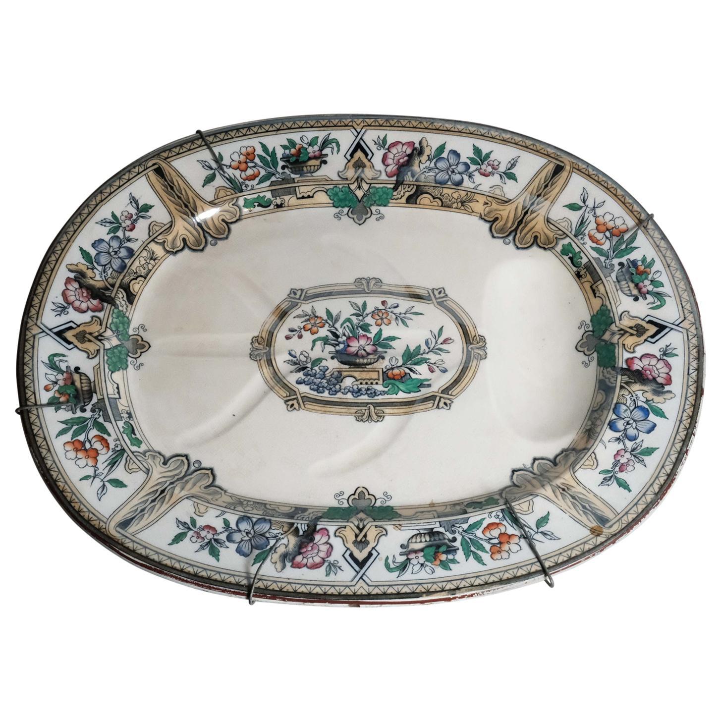 Antique Ceramic Meat Plate
