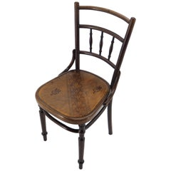 Antique Bentwood Dining Chair Manufacturaed by D.G. Fischel, Austria , 1900s