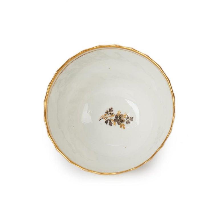 Antique Chamberlain Worcester White Floral Porcelain Tea Service, 18th Century For Sale 6