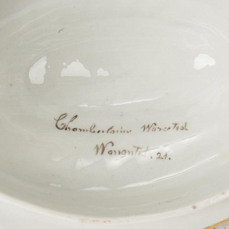 Antique Chamberlain Worcester White Floral Porcelain Tea Service, 18th Century For Sale 10