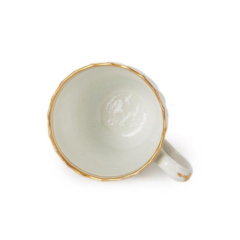 Antique Chamberlain Worcester White Floral Porcelain Tea Service, 18th Century For Sale 3