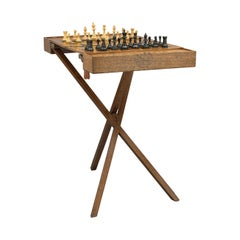 Antique Champaign, Folding Chess Table