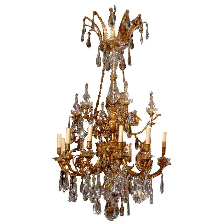 Antique Chandelier. Empire style chandelier For Sale