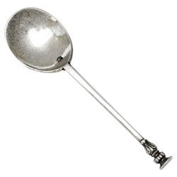 Antique Charles I Sterling Silver Seal Topped Spoon 1642 17th Century