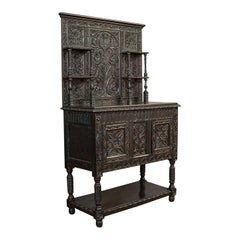 Antique Charles II Revival Dresser English Oak, Sideboard, Victorian, circa 1880