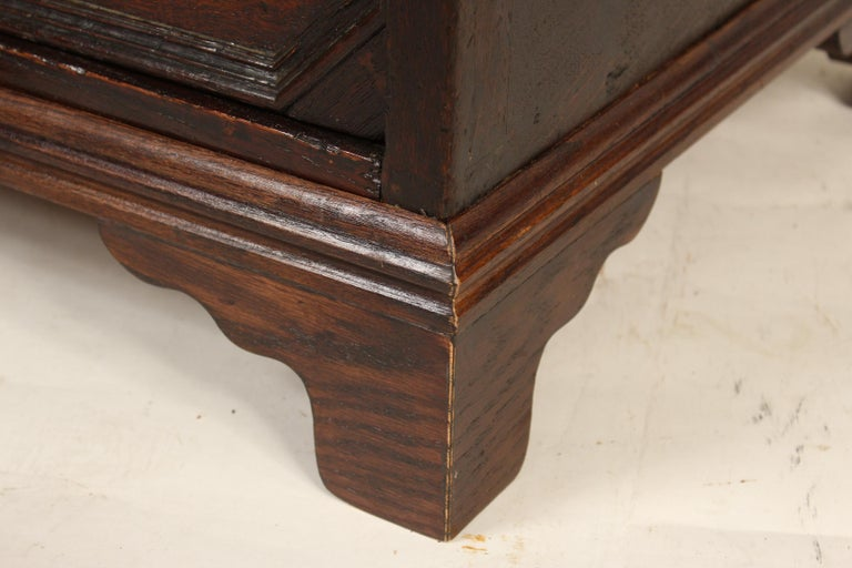 Antique Charles II Style Oak Chest of Drawers For Sale 4
