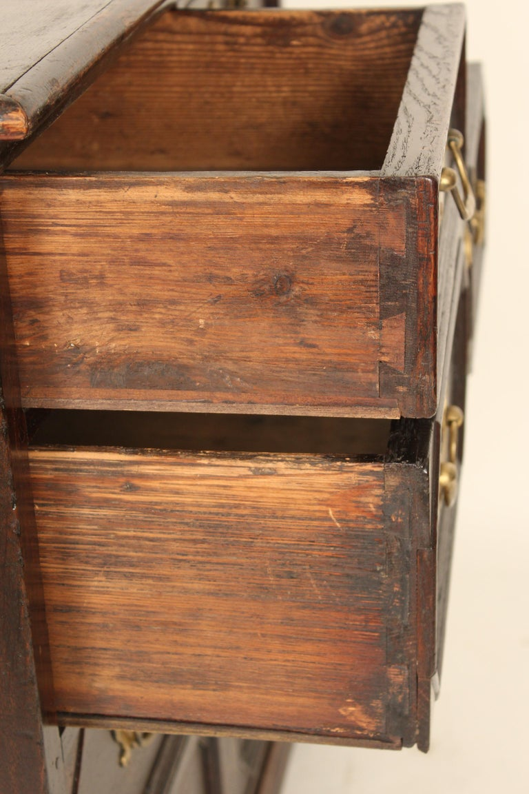 Antique Charles II Style Oak Chest of Drawers For Sale 6