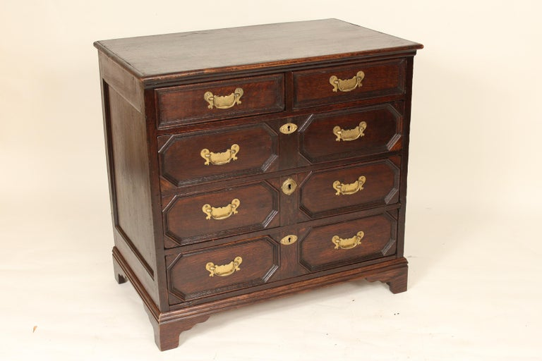 English Antique Charles II Style Oak Chest of Drawers For Sale