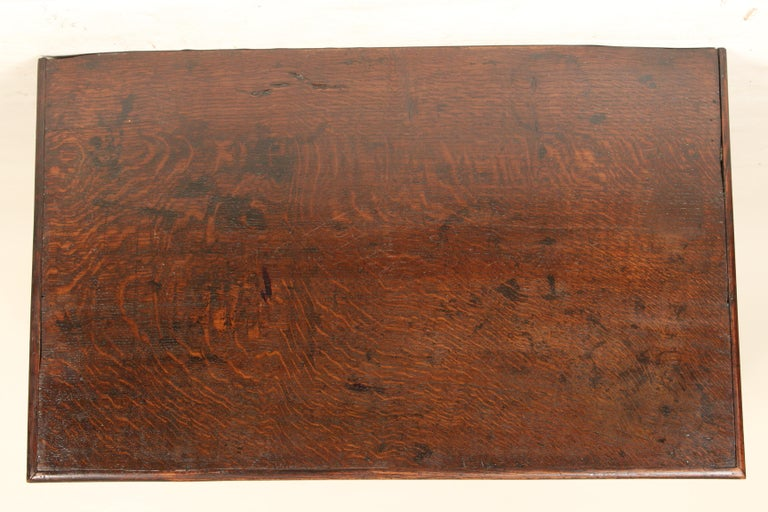 19th Century Antique Charles II Style Oak Chest of Drawers For Sale