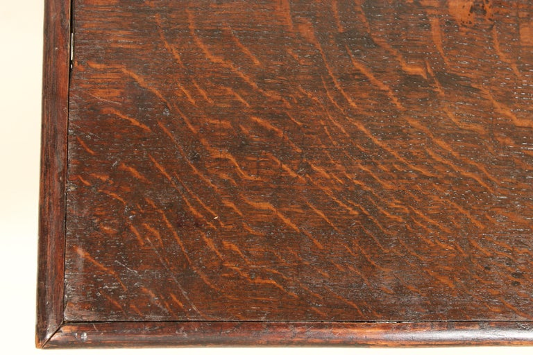 Brass Antique Charles II Style Oak Chest of Drawers For Sale