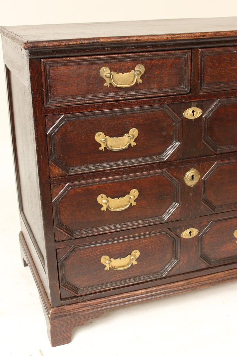 Antique Charles II Style Oak Chest of Drawers For Sale 1