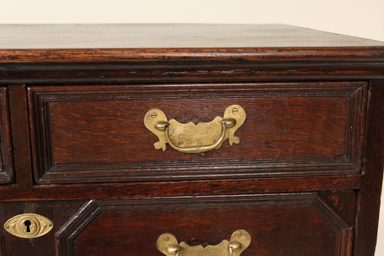 Antique Charles II Style Oak Chest of Drawers For Sale 2
