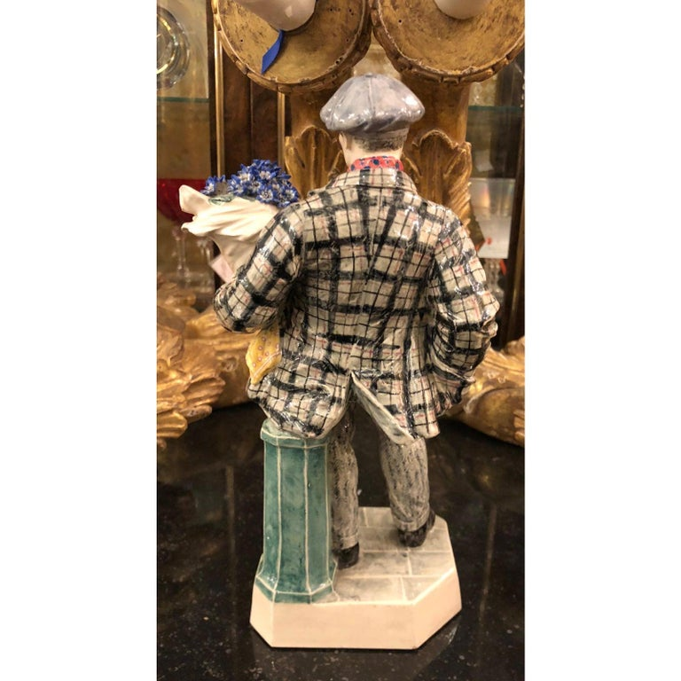 Art Deco Charles Vyse British Studio Art Pottery Figure of Cineraria Boy, circa 1925 For Sale