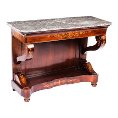 Antique Charles X Period Tigerwood Console Table, 19th Century