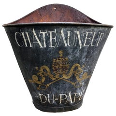 Antique Charming French Tole Painted Harvest Basket