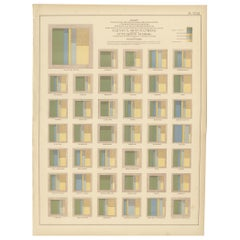 Antique Chart of Occupations and School Attendance of the United States, 1874