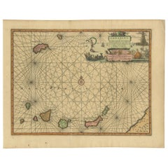 Antique Chart of the Canary Islands by Van der Aa, circa 1720