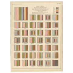 Antique Chart of the Church Accommodation of the United States by Walker, 1874