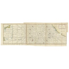 Antique Chart of the Mid-Pacific Ocean by Anson, 'c.1784'
