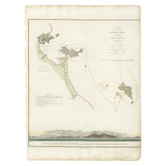 Antique Chart of the Vietnamese Coast by B. Baker