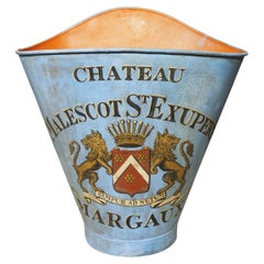 """Antique """"Château Malescot St. Exupéry"""" Grape Harvesting Hotte from France"""