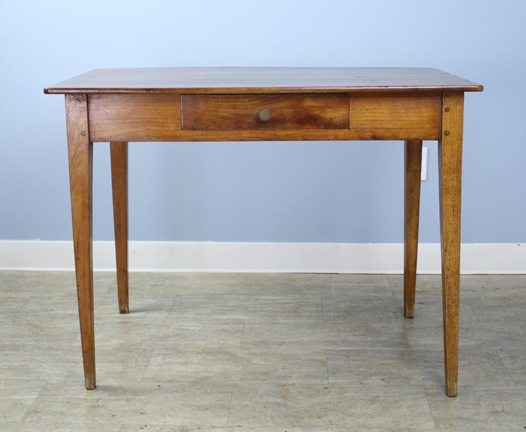 French Antique Cherry Writing Table For Sale