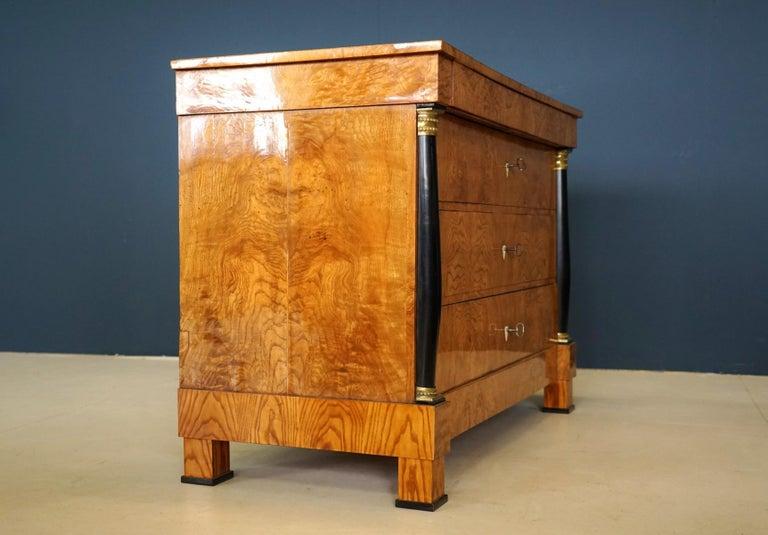 Antique Chest of Drawers, circa 1815, German Biedermeier, Restored For Sale 5