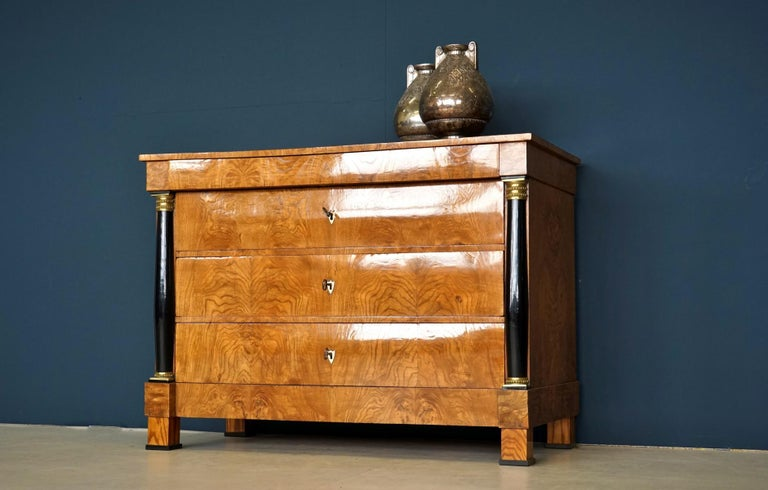 Early 19th Century Antique Chest of Drawers, circa 1815, German Biedermeier, Restored For Sale
