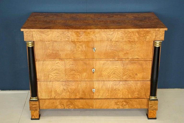 Antique Chest of Drawers, circa 1815, German Biedermeier, Restored For Sale 4