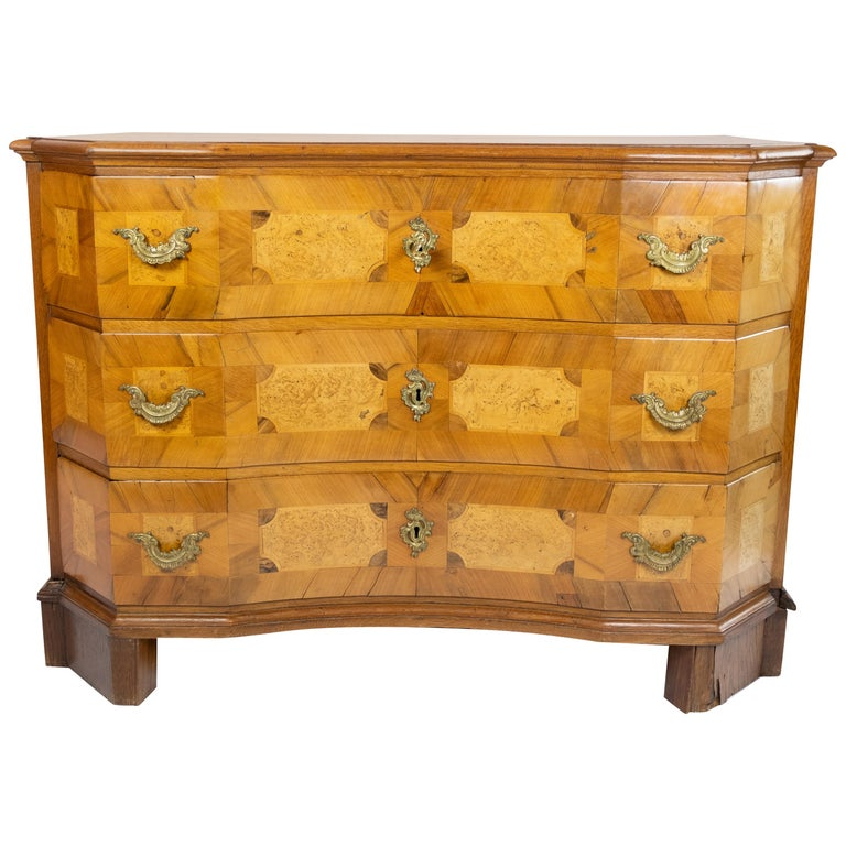 Antique Chest of Drawers in Walnut and Fruit Wood, 1780s For Sale