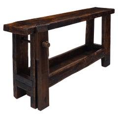 Antique Chestnut French Workbench