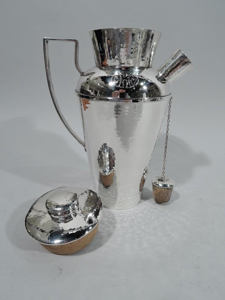 American Craftsman Antique Chicago Craftsman Hand-Hammered Cocktail Shaker by Lebolt For Sale