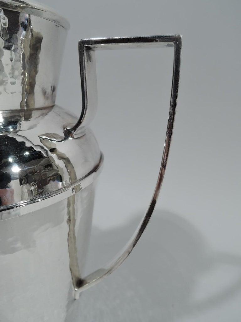 Sterling Silver Antique Chicago Craftsman Hand-Hammered Cocktail Shaker by Lebolt For Sale