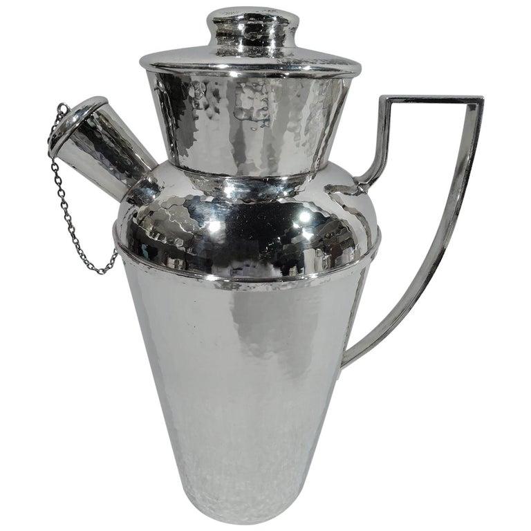Antique Chicago Craftsman Hand-Hammered Cocktail Shaker by Lebolt For Sale