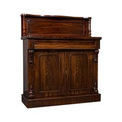 Antique Chiffonier, English, Mahogany, Sideboard, Cabinet, Victorian, circa 1880