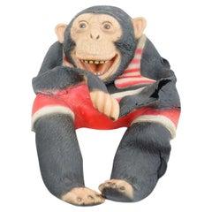 Antique Chimpanzee Rubber Puppet