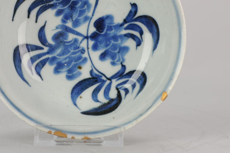 Antique Chinese 16th Century Chinese Porcelain Bowl Grapes Ming Tianqi For Sale 7